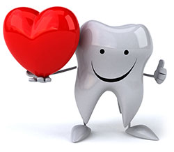 tooth with heart
